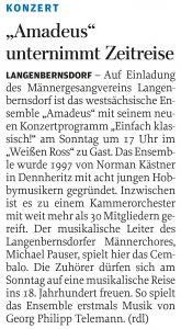 """06.05.2011 – """"Amadeus"""" unternimmt Zeitreise – Annegret Riedel"""