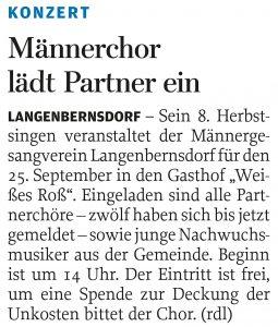 16.09.2011 – Männerchor lädt Partner ein – Annegret Riedel