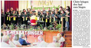 26.09.2011 – Chöre bringen den Saal zum Singen – Annegret Riedel