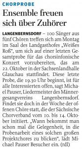 06.10.2011 – Ensemble freuen sich über Zuhörer – Annegret Riedel
