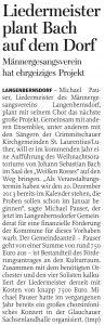 13.08.2012 – Liedermeister plant Bach auf dem Dorf – Thomas Michel