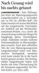 27.10.2012 – Nach Gesang wird bis in die Nacht getanzt – Annegret Riedel