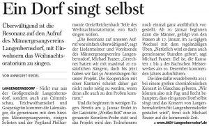 18.12.2012 – Ein Dorf singt selbst – Annegret Riedel