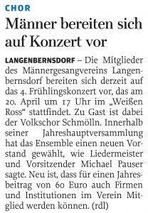 13.03.2013 – Männer bereiten sich auf Konzert vor – Annegret Riedel