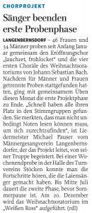 18.03.2013 – Sänger beenden erste Probenphase – Annegret Riedel