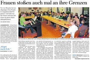 08.05.2013 – Frauen stoßen auch mal an ihre Grenzen – Annegret Riedel