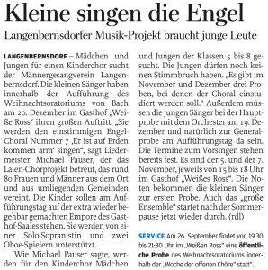 05.09.2013 – Kleine singen die Engel – Annegret Riedel