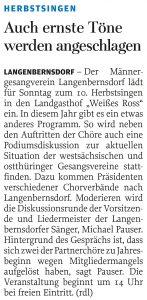 26.09.2013 – Auch ernste Töne werden angeschlagen – Annegret Riedel