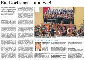 24.12.2013 – Ein Dorf singt – und wie! – Annegret Riedel
