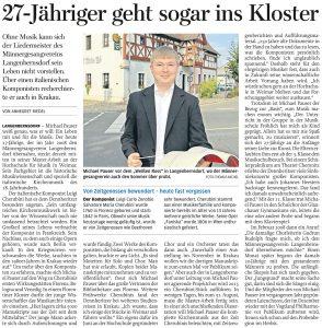 16.08.2014 – 27-Jähriger geht sogar ins Kloster – Annegret Riedel