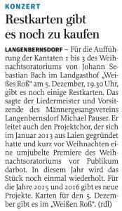 25.11.2014 – Restkarten gibt es noch zu kaufen – Annegret Riedel