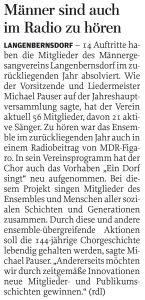 12.02.2015 – Männer sind auch im Radio zu hören – Annegret Riedel