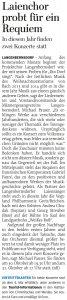 15.04.2015 – Laienchor probt für ein Requiem – Annegret Riedel