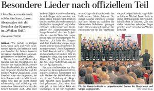 03.11.2015 – Besondere Lieder nach offiziellem Teil – Annegret Riedel
