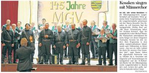 09.01.2016 – Kosaken singen mit Männerchor – Thomas Michel