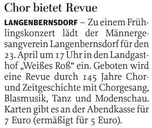 07.04.2016 – Chor bietet Revue
