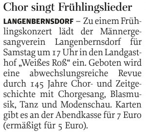 20.04.2016 – Chor singt Frühlingslieder
