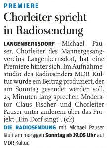 20.08.2016 – Chorleiter spricht in Radiosendung – ck