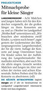 24.08.2016 – Mitmachprobe für kleine Sänger – Annegret Riedel