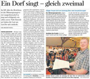 24.10.2016 – Ein Dorf singt – gleich zweimal – Annegret Riedel