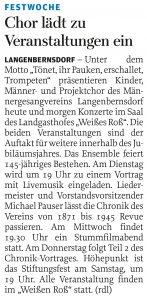 29.10.2016 – Chor lädt zu Veranstaltungen ein – Annegret Riedel