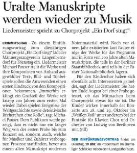 08.09.2017 – Uralte Manuskripte werden wieder zu Musik – Annegret Riedel