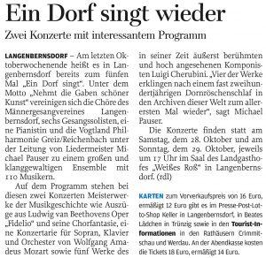 30.09.2017 – Ein Dorf singt wieder – Annegret Riedel