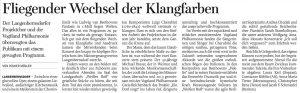 30.10.2017 – Fliegender Wechsel der Klangfarben – Volker Müller
