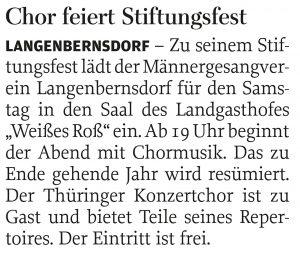 01.11.2017 – Chor feiert Stiftungsfest