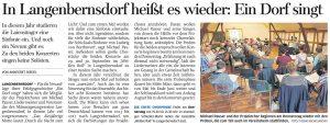 13.01.2018 – In Langenbernsdorf heißt es wieder: Ein Dorf singt – Annegret Riedel