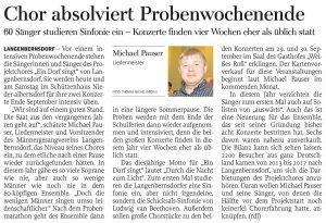 15.06.2018 – Chor absolviert Probenwochenende – Annegret Riedel
