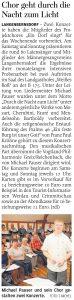 25.09.2018 – Chor geht durch die Nacht zum Licht – Annegret Riedel