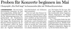 06.10.2018 – Proben für Konzerte beginnen im Mai – Annegret Riedel