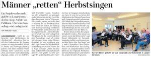 """30.09.2019 - Männer """"retten"""" Herbstsingen - Freie Presse Werdau: Annegret Riedel"""