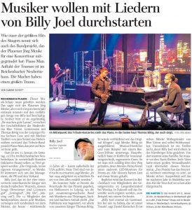 19.12.2019 - Musiker wollen mit Liedern von Billy Joel durchstarten - Freie Presse Reichenbach: Sabine Schott