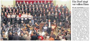 07.12.2019 - Ein Dorf singt vor vollem Haus - Freie Presse Werdau: Thomas Michel