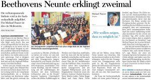 17.10.2020 - Beethovens Neunte erklingt zweimal - Freie Presse Werdau: Stefan Stolp