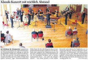 23.06.2020 - Klassik-Konzert mit reichlich Abstand - Freie Presse Werdau: Thomas Michel