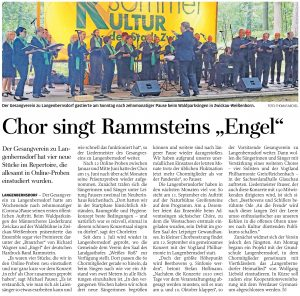 "13.07.2021 - Chor singt Rammsteins ""Engel"" - Freie Presse Werdau: hd"
