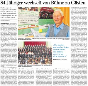 11.08.2021 - 84-Jähriger wechselt von Bühne zu Gästen - Freie Presse Werdau: Uwe Mühlhausen